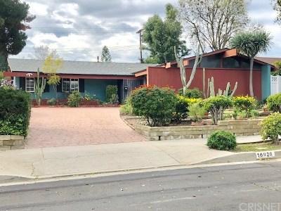 Northridge Single Family Home Active Under Contract: 16928 Labrador Street