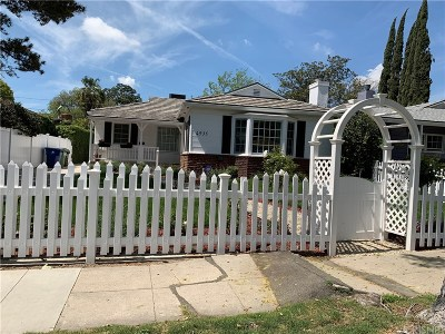 North Hollywood Single Family Home Active Under Contract: 4935 Willowcrest Avenue