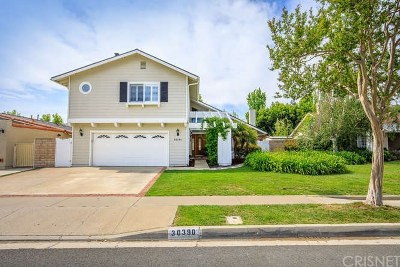 Agoura Hills Single Family Home Sold: 30390 Rainbow View Drive