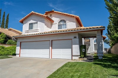 Castaic Single Family Home For Sale: 29886 Muledeer Lane