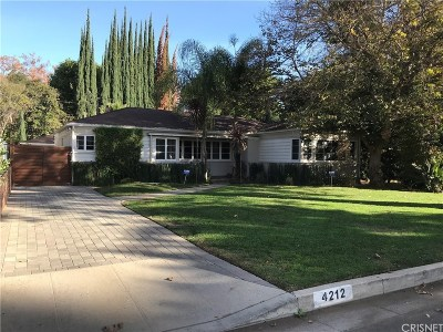 Studio City Single Family Home Sold: 4212 Teesdale Avenue
