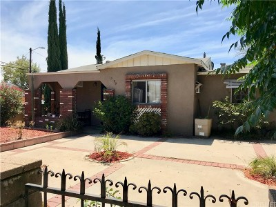 Pacoima Single Family Home Active Under Contract: 13150 Filmore Street