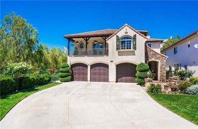 Stevenson Ranch Single Family Home Active Under Contract: 25501 Housman Place