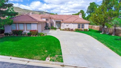 Palmdale Single Family Home For Sale: 41105 Heights Drive