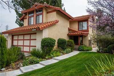 Santa Clarita, Canyon Country, Newhall, Saugus, Valencia, Castaic, Stevenson Ranch, Val Verde Single Family Home For Sale: 21602 Newton Court