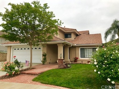 Saugus Single Family Home For Sale: 22046 Conway Place