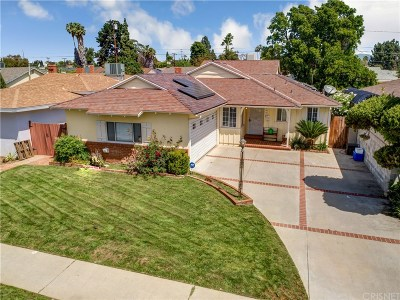 Van Nuys Single Family Home Active Under Contract: 13959 Wyandotte Street