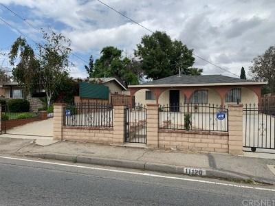 San Fernando Single Family Home For Sale: 11120 Laurel Canyon Boulevard