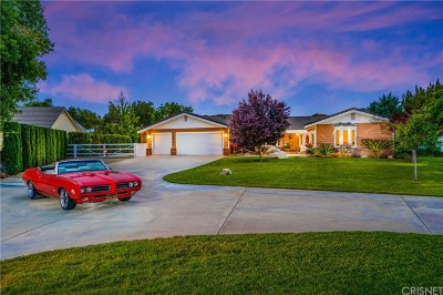 Single Family Home For Sale: 16127 Lost Canyon Road