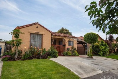 Mid Los Angeles (C16) Single Family Home Active Under Contract: 3058 Vineyard Avenue