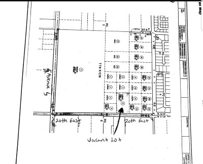 Lancaster Residential Lots & Land For Sale: 43043 Vac/20th Ste Pav/Vic Avenue K