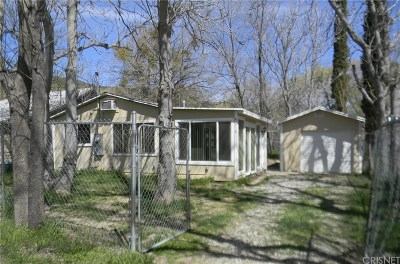 Lake Hughes Single Family Home Active Under Contract: 43714 Sylvan Drive