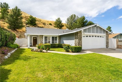 Castaic Single Family Home Active Under Contract: 31685 Bobcat Way
