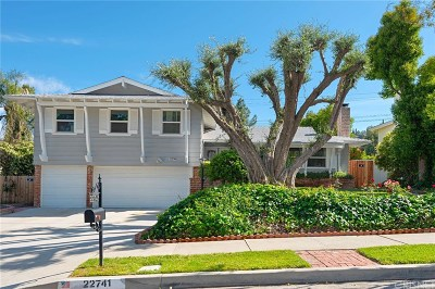 Woodland Hills Single Family Home For Sale: 22741 Mulholland Drive