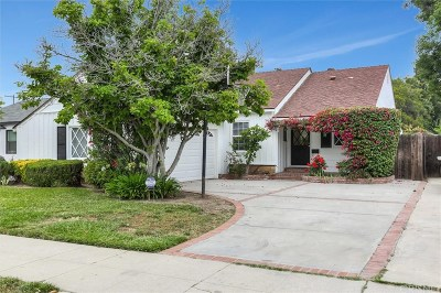 Sherman Oaks Single Family Home Active Under Contract: 5845 Saloma Avenue