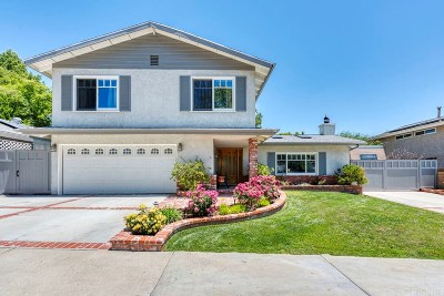 Saugus Single Family Home Active Under Contract: 27252 Garza Drive