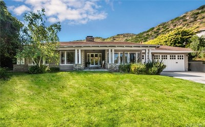 Malibu Single Family Home Active Under Contract: 20239 Inland Lane
