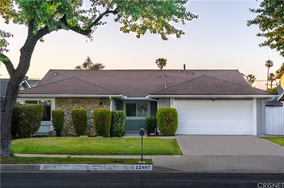 West Hills Single Family Home Active Under Contract: 22667 Stagg Street
