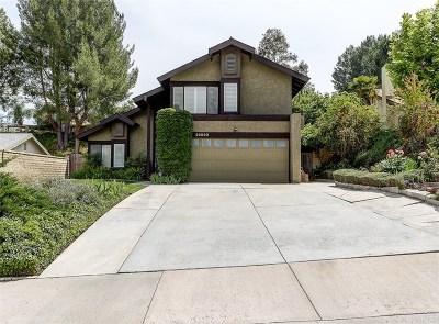 Los Angeles County Single Family Home Active Under Contract: 23030 Tupelo Ridge Drive