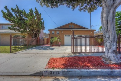 Inglewood Single Family Home For Sale: 3712 West 111th Street