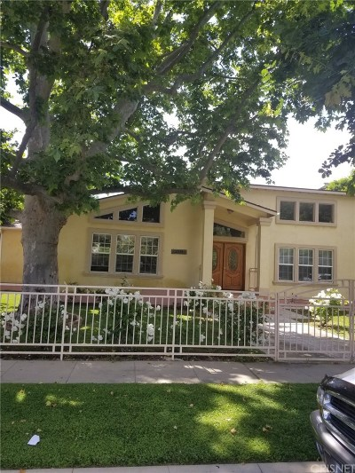 Sherman Oaks Single Family Home For Sale: 5339 Lennox Avenue
