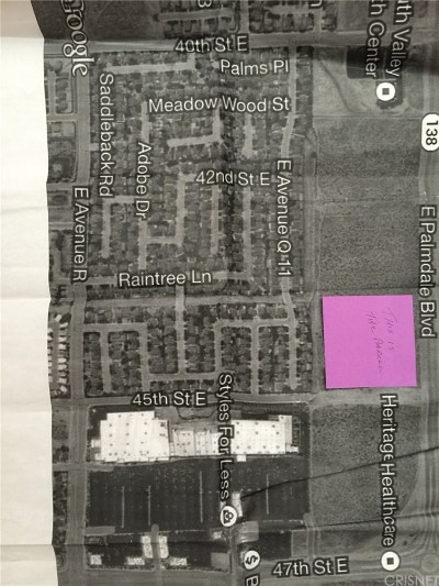 Palmdale Residential Lots & Land For Sale: 4500 East Palmdale Boulevard