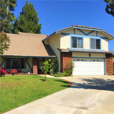 Saugus Single Family Home For Sale: 20402 Key Court