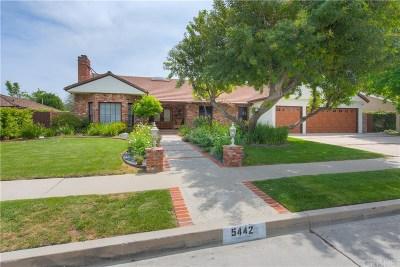 Tarzana Single Family Home For Sale: 5442 Calvin Avenue