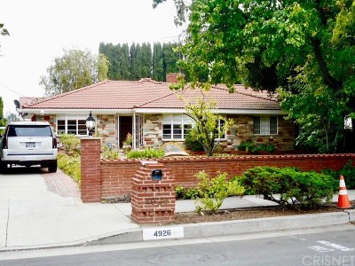 Encino Single Family Home For Auction: 4926 Woodley Avenue