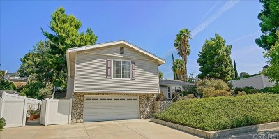 Newhall Single Family Home Active Under Contract: 19276 Sierra Estates Drive
