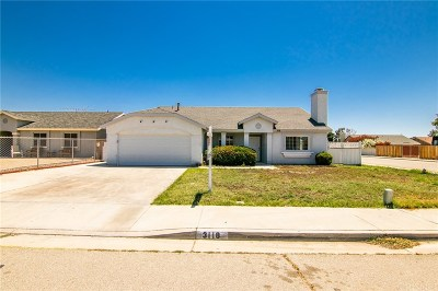 Rosamond Single Family Home Active Under Contract: 3118 Melvin Street