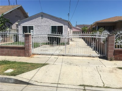 Inglewood Single Family Home For Sale: 4153 West 106th Street