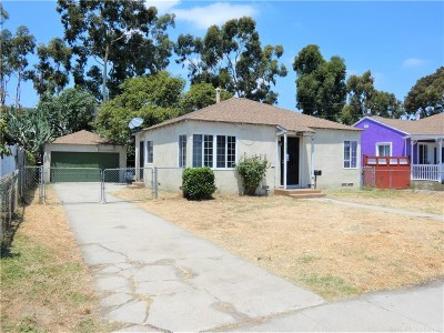Long Beach Single Family Home Active Under Contract: 2757 Webster Avenue