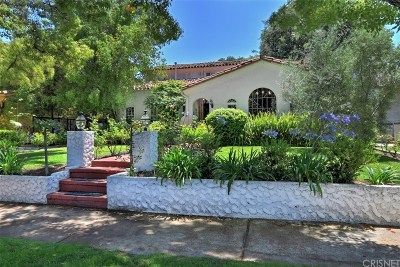 Toluca Lake Single Family Home For Sale: 10326 Woodbridge Street