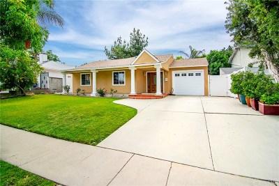 Tarzana Single Family Home Active Under Contract: 5111 Nestle Avenue