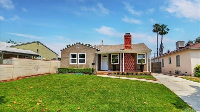 North Hollywood Single Family Home Active Under Contract: 10423 Cumpston Street