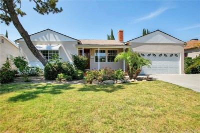Valley Glen Single Family Home Active Under Contract: 12537 Collins Street