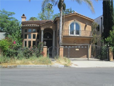 Los Angeles County Single Family Home For Auction: 5132 Noble Avenue