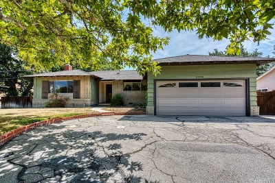 Newhall Single Family Home Active Under Contract: 25166 Wheeler Road