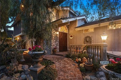 Calabasas Single Family Home For Sale: 23555 Summit Drive
