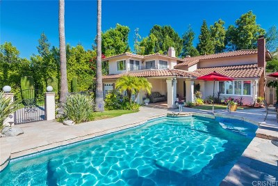 Calabasas CA Single Family Home For Sale: $1,999,000