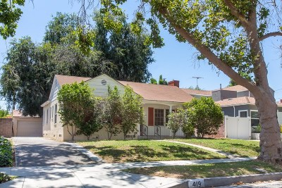Burbank Single Family Home For Sale: 419 South Mariposa Street