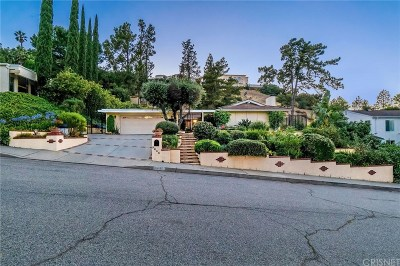 Encino Single Family Home For Sale: 3643 Terrace View Drive