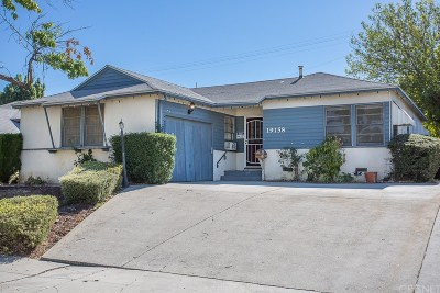 Los Angeles County Single Family Home For Sale: 19158 Kittridge Street