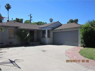 Reseda Single Family Home Active Under Contract: 7039 Enfield Avenue