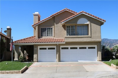 Santa Clarita, Canyon Country, Newhall, Saugus, Valencia, Castaic, Stevenson Ranch, Val Verde Single Family Home For Sale: 23512 Stillwater Place