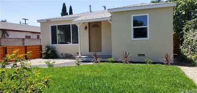 Mission Hills San Fernando Single Family Home For Sale: 15430 Tuba Street