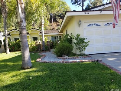 Newhall Single Family Home For Sale: 19614 Green Mountain Drive