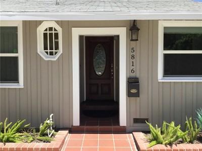 Single Family Home For Sale: 5816 Lemona Avenue