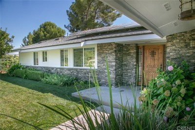 Canyon Country Single Family Home For Sale: 27168 Circle G Drive